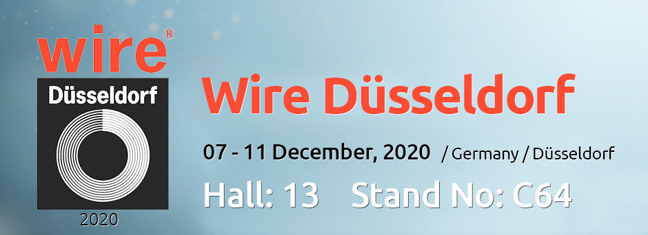 Visit our stand on Wire & Tube 2018 Exhibition in Germany